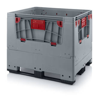 900 Litre Collapsible Pallet Bin  Solid with Access Doors
