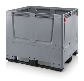 900 Litre Collapsible Pallet Bin  Solid with Skids