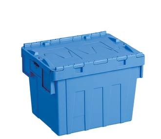 25 Litre Attached Lid Crate (400 x 300mm)