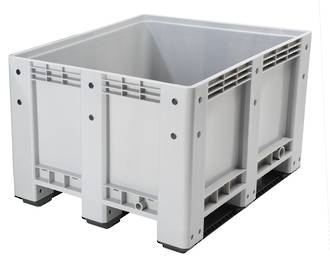 600 Litre Solid Pallet Bin with Skids
