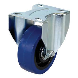 Rigid Castor with 100mm Rebound Rubber Wheel