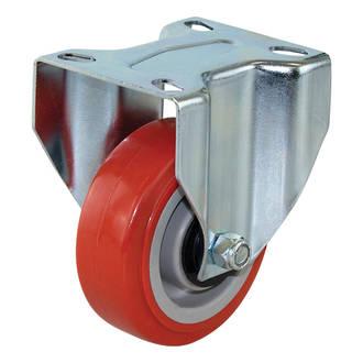Rigid Castor with 100mm Polyurethane Wheel