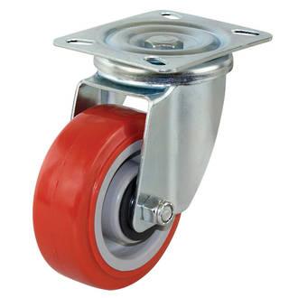 Swivel Castor with 100mm Polyurethane Wheel