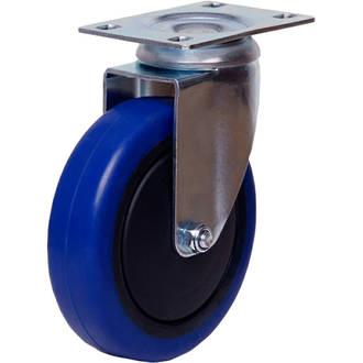 Swivel Castor with 100mm Rebound Rubber Wheel