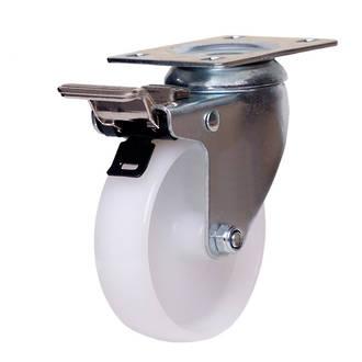 Swivel Brake Castor with 100mm Nylon Wheel